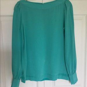 Kate Spade Silk Long Sleeve Shirt